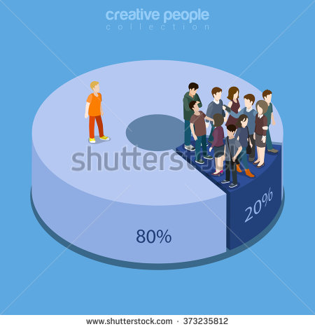 stock-vector-pareto-principle-of-factor-sparsity-rule-law-of-the-vital-few-concept-flat-d-isometry-373235812